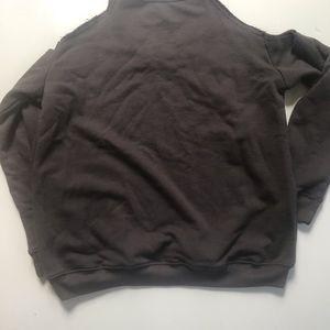 lyrix Tops - Pink Floyd Grey Cold Shoulder Rogk Band Sweatshirt